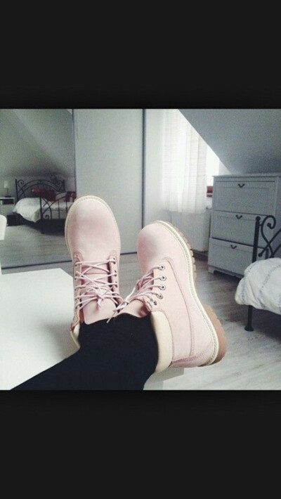 Ботинки Тимберлэнд розовые (без меха)
