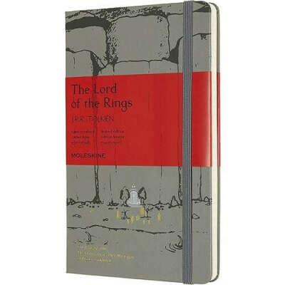 "Блокнот ""Le Lord Of The Rings. Moria"" Large, 240 страниц, в линейку, 13 х 21 см, серый бренда Moleskine"