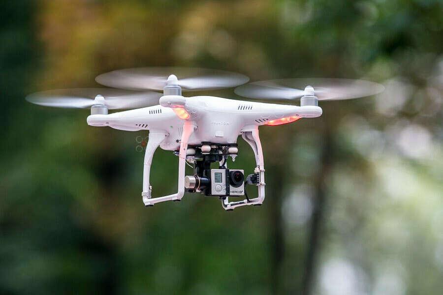 Квадрокоптер DJI Phantom 2 с подвесом DJI Zenmuse H3-3D для GoPro 3