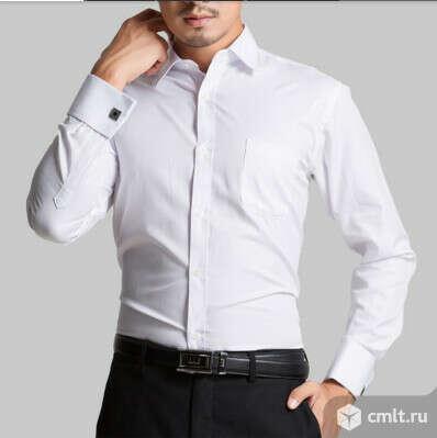Белая рубашка под запонки