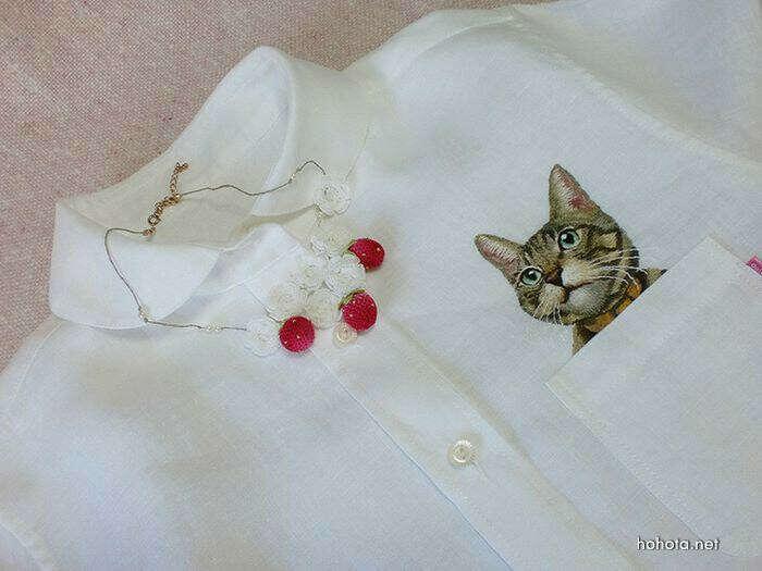 Хочу рубашку с котиком)