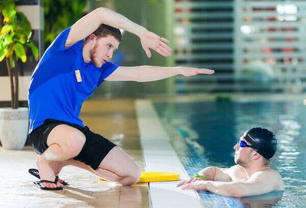 Индивидуальное занятие с тренером по плаванию