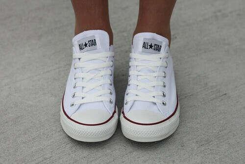 Кеды Converse, белые, укороченные, 36 р-р