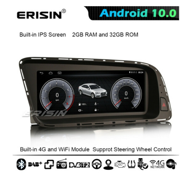 "Erisin ES2605Q 8.8"" Android 10.0 Car Multimedia Player for Audi Q5 GPS WiFi 4G TPMS DVR DAB+ CarPlay+ - Erisinworldwide"