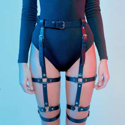 672.5руб. 45% СКИДКА|Ремень подвязка, эротическое белье, клетка, пояс на подтяжках, пояс для связывания, готический панк стиль, подвязка, фетиш, пояс для чулок|Подвязки|   | АлиЭкспресс