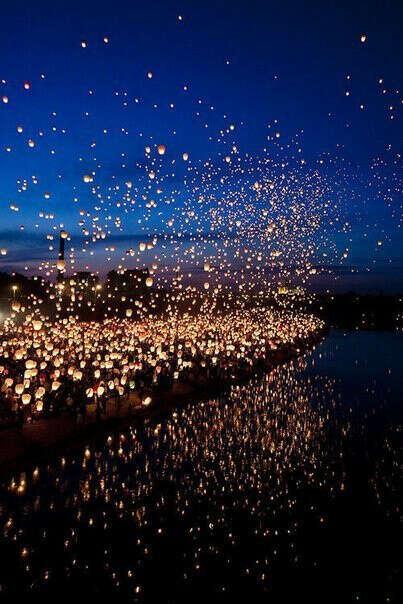 Запускать небесные фонари