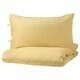 ПУДЕРВИВА Пододеяльник и 2 наволочки, светло-желтый, 200x200/50x70 см купить в интернет-магазине - IKEA