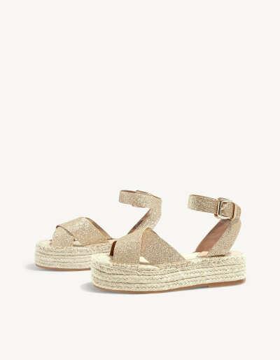 Glitter flatform sandals 4.5 CM HEEL