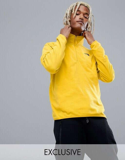 Желтый флисовый топ The North Face