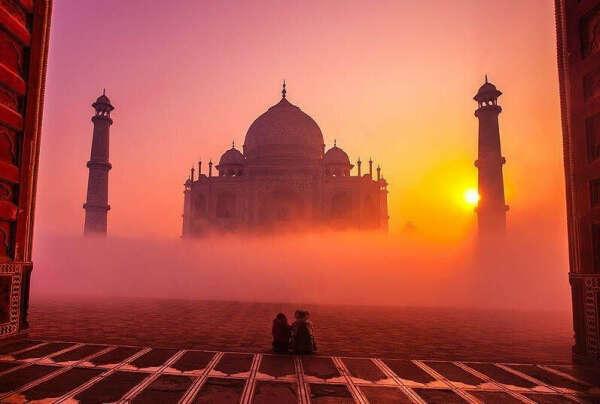 В Индию
