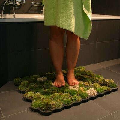 коврик для ванны из мха