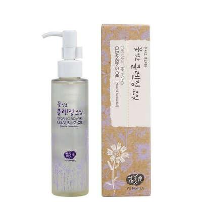 Whamisa Organic Flowers Cleansing Oil   Natural Korean Skincare UK