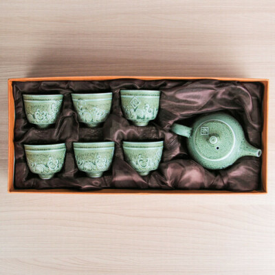 Набор для чайной церемонии Древний мир, 7 предметов: чайник 200 мл, чашки 100 мл