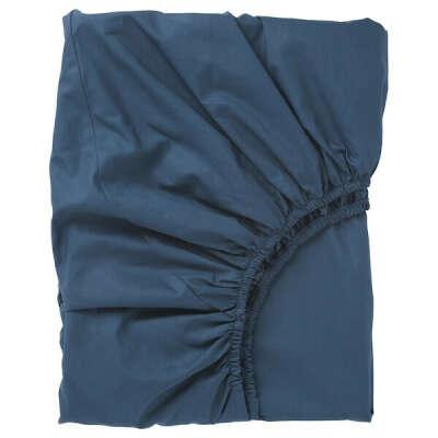 Купить УЛЛЬВИДЕ Простыня натяжная, темно-синий, 180x200 см по выгодной цене в интернет-магазине - IKEA