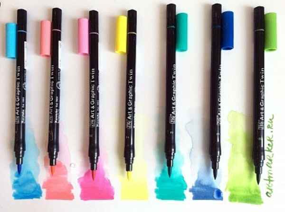 Акварельные маркеры Art & Graphic Twin (81 цвет, акварельные)