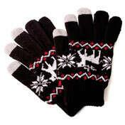 Перчатки сенсорные Christmas Deer - Black&Red