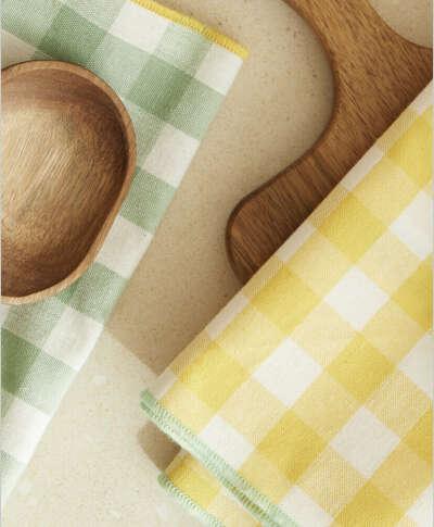 Кухонное полотенце ZARA HOME в клетку (набор из 2х шт.)