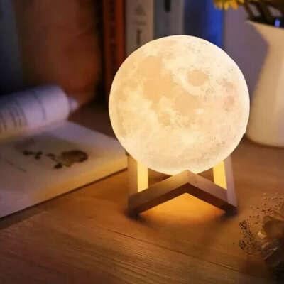 Аккумуляторный сенсорный светильник «Луна» (большая 15 см.) - Товары На Дом