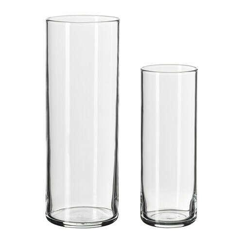 ЦИЛИНДР Набор ваз,2 штуки - IKEA