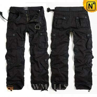 CWMALLS® Mens Black Cargo Pants CW100017