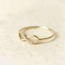 Кольцо с бесконечностью.