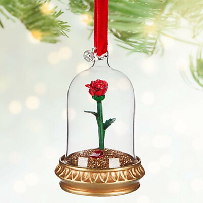 Disney Enchanted Rose Light-Up Sketchbook Ornament - Beauty and the Beast - 2016