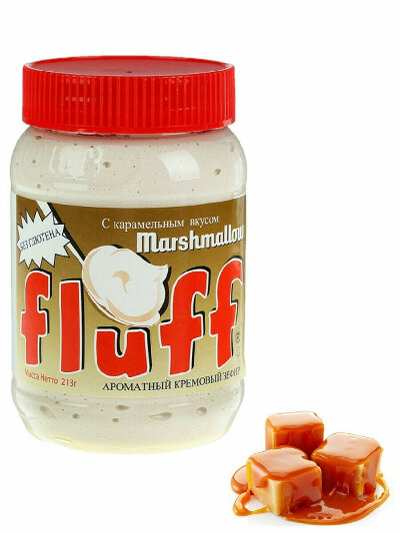 Кремовый зефир с карамельным вкусом Marshmallow Fluff Caramel 213 г, Marshmallow Fluff
