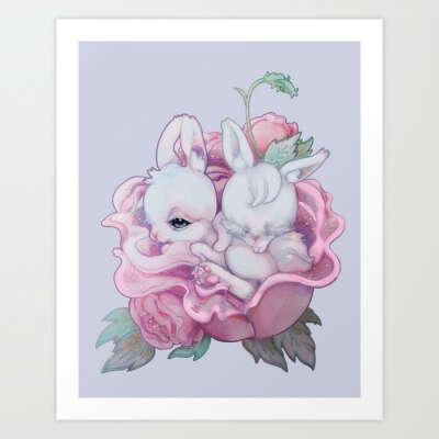 BloomBBBuns Art Print by naylemonstre