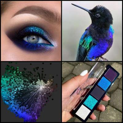 EYESHADOWS PALETTE E17 Blue hummingbird