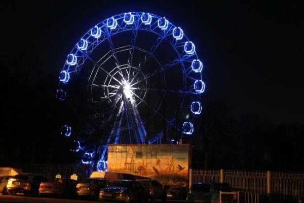 Покататься ночью на колесе обозрения