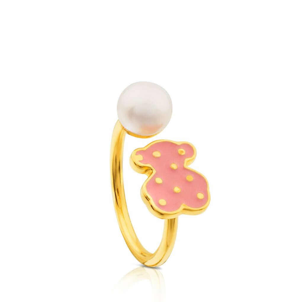 Кольцо Tous с жемчужиной