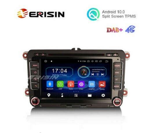 """Erisin ES6948V 7"""" Android 10.0 Car DVD GPS Radio WiFi BT Canbus 4G for VW Caddy MK6 Polo Magotan Seat Leon Skoda Superb - Erisinworldwide"""