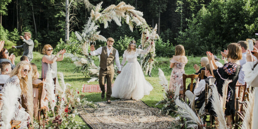 свадьбу в лесу