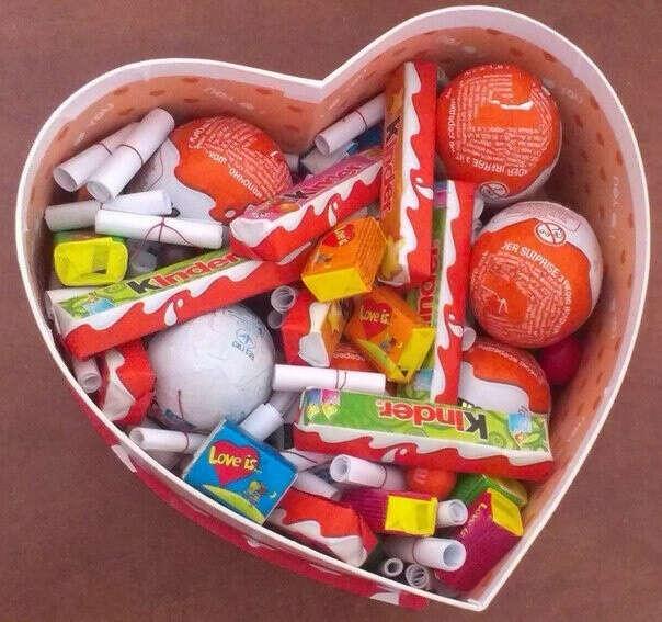 Коробочка со сладостями и записочками за что я тебя люблю