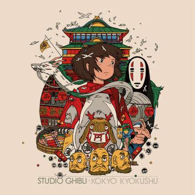 Коллекция виниловых пластинок с музыкой из фильмов Хаяо Миядзаки (Studio Ghibli Kokyo Kyokushu)