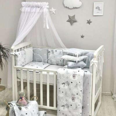 Baby Design Коты в облаках серый