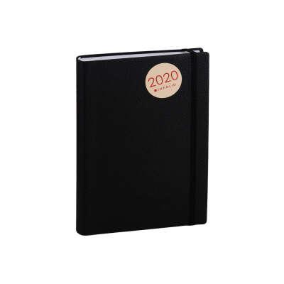 Ежедневник Prime чёрный, иск.кожа, мягк.переплет, ляссе, с резинкой, In Folio