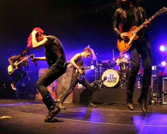 На концерт My Chemical Romance