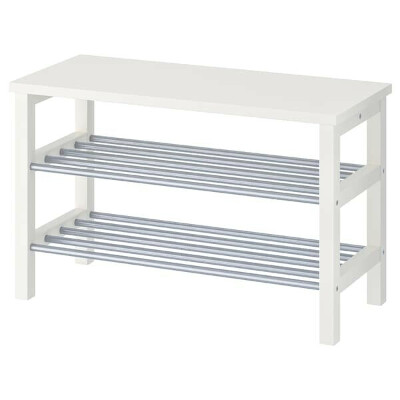 ЧУСИГ Скамья с полкой для обуви - белый - IKEA