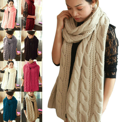 Большой вязаный шарф