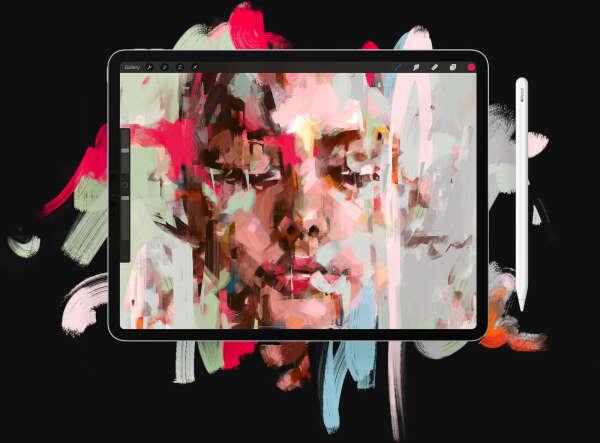 iPad Pro со стилусом для рисования