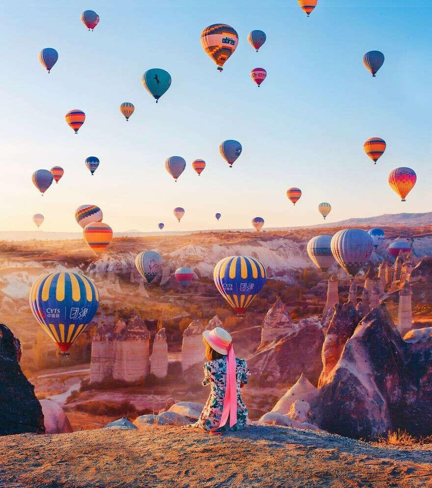 Полетать на воздушных шарах в Кападокии