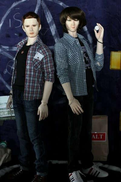 Куклы Дина и Сэма