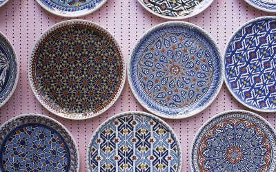 Тарелка с тунисским узором