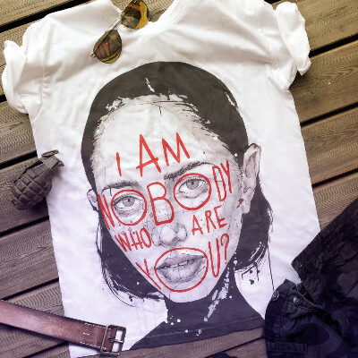 """T-Shirt """"I am Nobody, who are you"""" Nr. 2 - WeArt Gallery"""