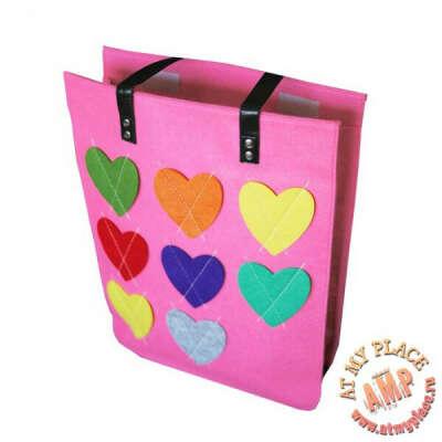 "Розовая сумка ""Сердечки"""