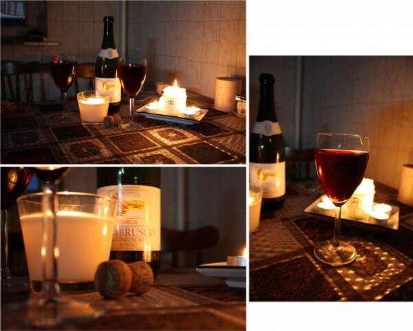 Ужин при свечах с любимым мужем