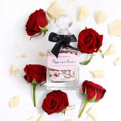 Rose Chocolate - Пудра для Ванни з білим шоколадом та трояндою