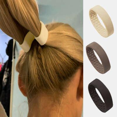 172.58руб. |Женский держатель для волос «конский хвост», складные резинки для волос, силиконовая эластичная лента для волос, простые аксессуары для волос|Женские аксессуары для волос|   | АлиЭкспресс