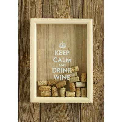 Копилка для винных пробок 'Keep Calm &'